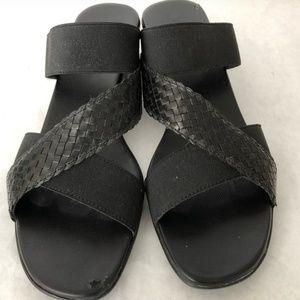 Munro black Slip on Sandal womens platform slides